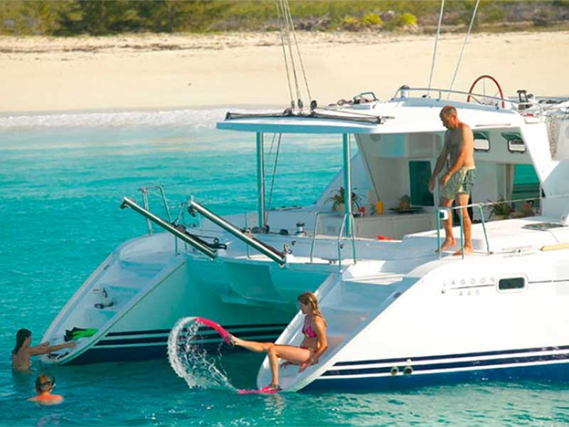 Catamarans is the perfect platform to book a cabin and charter at a