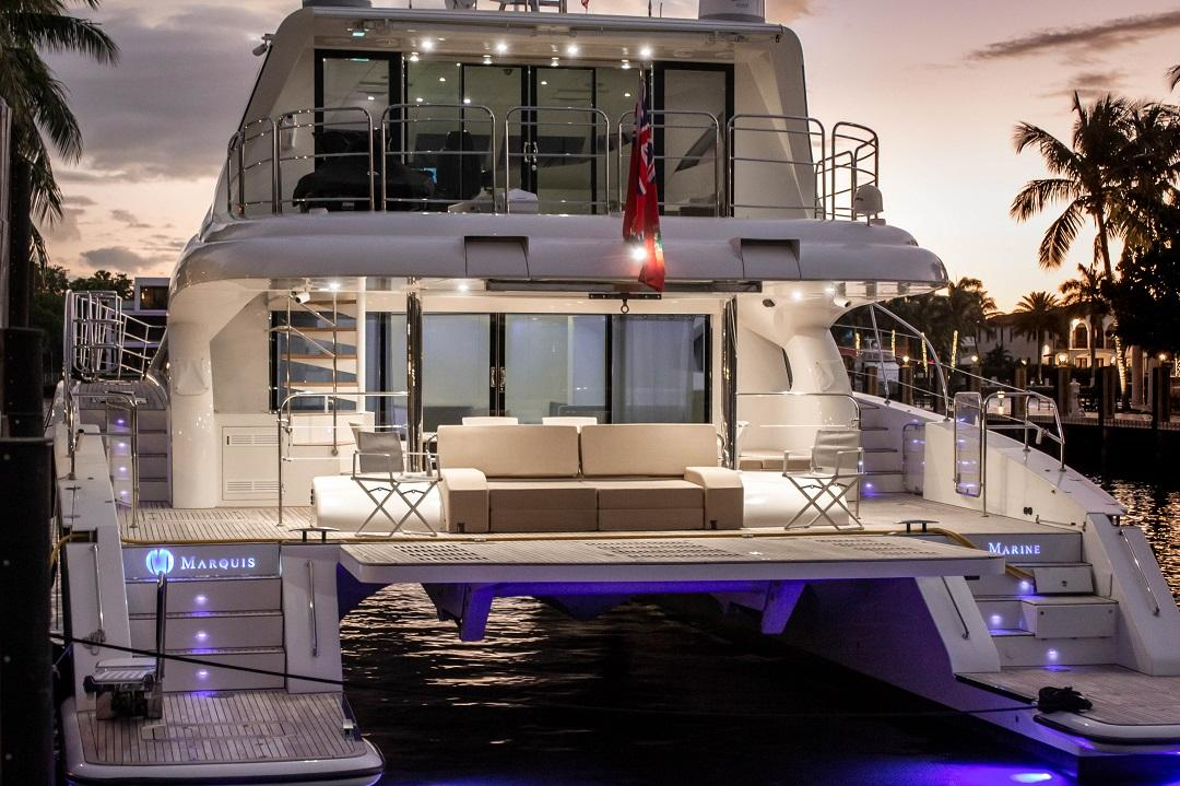 Power Catamarans at Miami Boat Show,Catamaran Row,FL