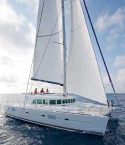 Lagoon 500 Catamaran Sailing