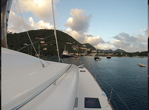 Lagoon 52 deck
