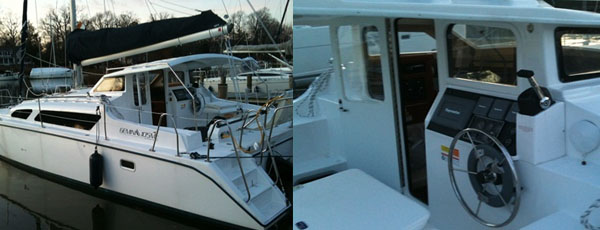 Gemini Catamaran freshly splashed for spring!