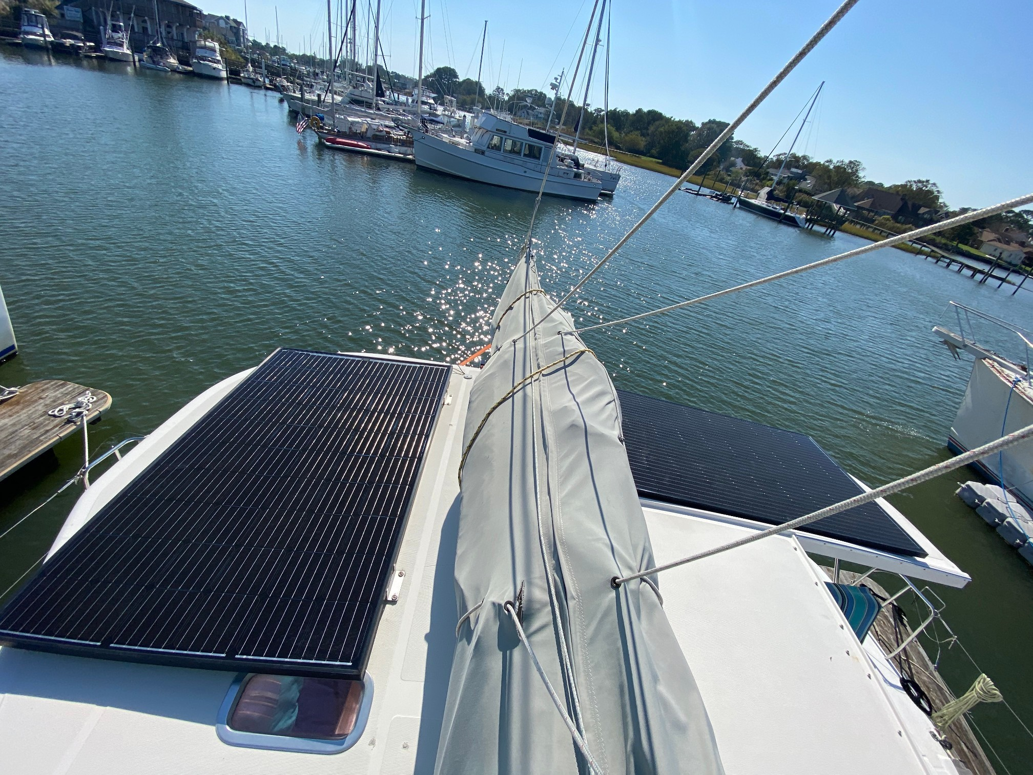 Used Sail Catamaran for Sale 2005 Lagoon 380 S2 Electrical, Power & Plumbing
