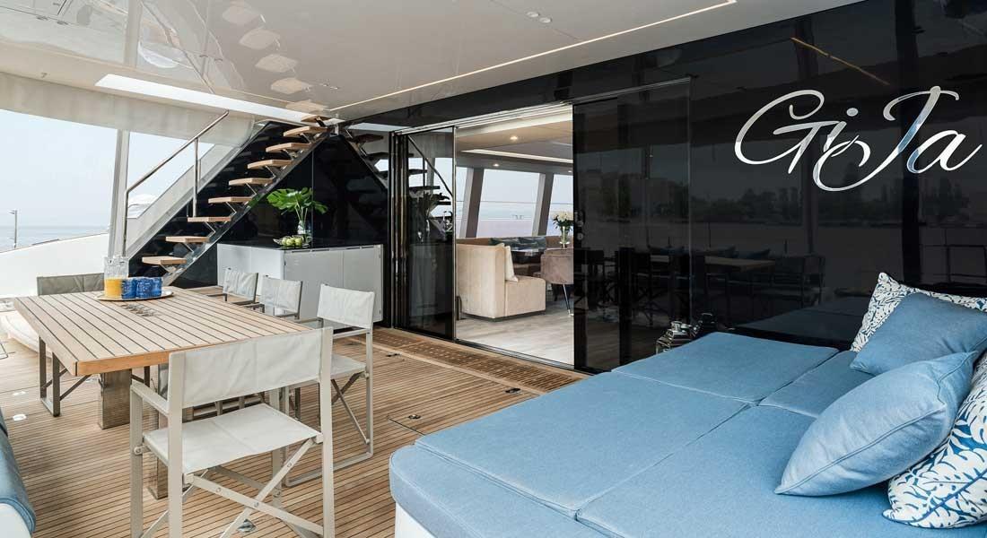 Used Sail Catamaran for Sale 2019 Sunreef 80 Layout & Accommodations
