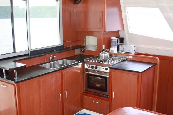 Used Sail Catamaran for Sale 2012 Leopard 44 Galley