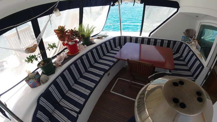 Used Power Catamaran for Sale 2004 Lagoon 43 Power  Deck & Equipment