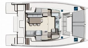 Used Sail Catamaran for Sale 2015 Bali 4.3 Layout & Accommodations