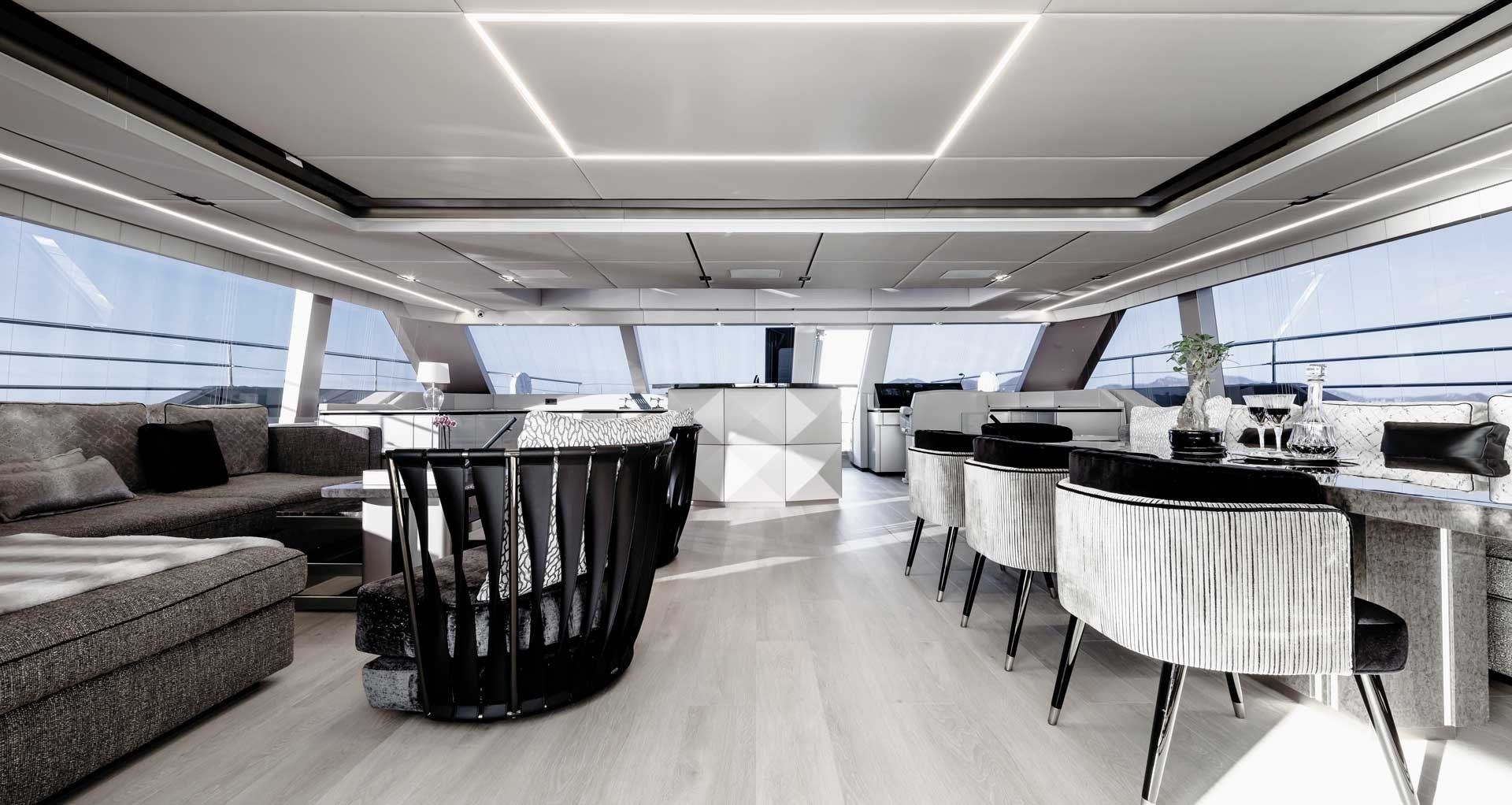 New Power Catamaran for Sale  Sunreef 80 Power Eco Layout & Accommodations
