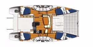Used Power Catamaran for Sale 2009 Leopard 47 PC  Layout & Accommodations