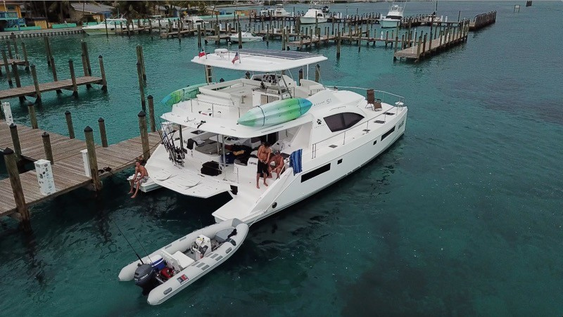 Used Power Catamaran for Sale 2018 Leopard 51PC Boat Highlights