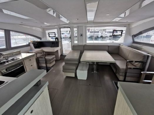 Used Power Catamaran for Sale 2018 Leopard 51PC Layout & Accommodations