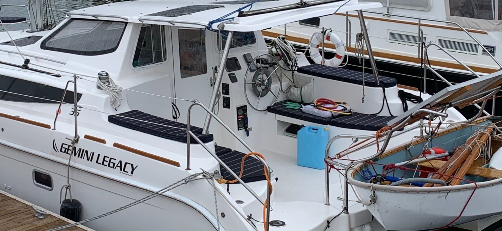 Used Sail Catamaran for Sale 2013 Legacy 35 Deck & Equipment