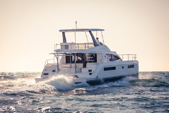 Used Power Catamaran for Sale 2016 Leopard 43 PC Boat Highlights
