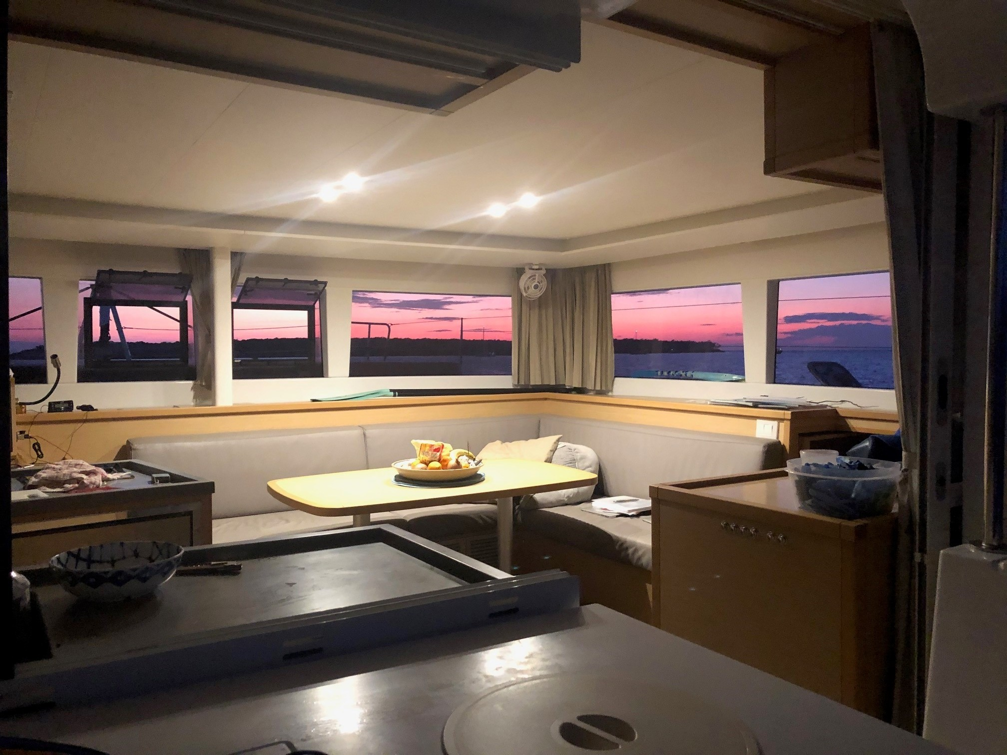 Used Sail Catamaran for Sale 2017 Lagoon 450F Layout & Accommodations
