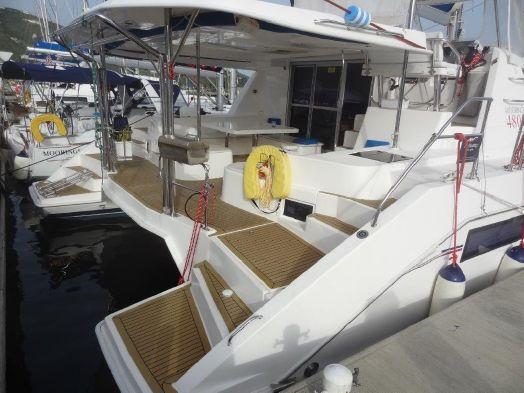 Preowned Sail Catamarans for Sale 2013 Leopard 48 Deck & Equipment
