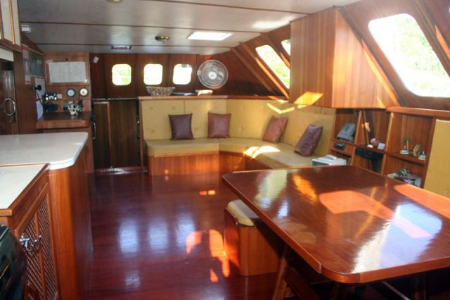 Used Sail Catamaran for Sale 2004 Custom 62 Layout & Accommodations