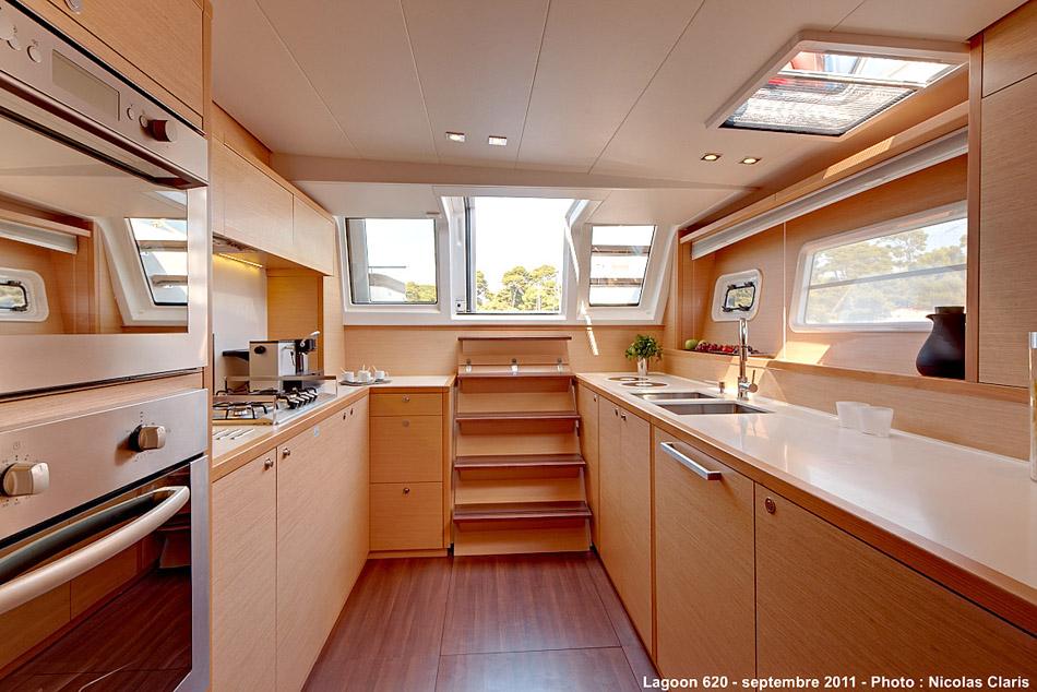 New Sail Catamaran for Sale  Lagoon 620  Galley