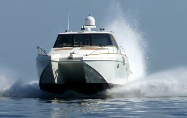 Preowned Power Catamarans for Sale 2011 Enclosed Helm 53 Boat Highlights