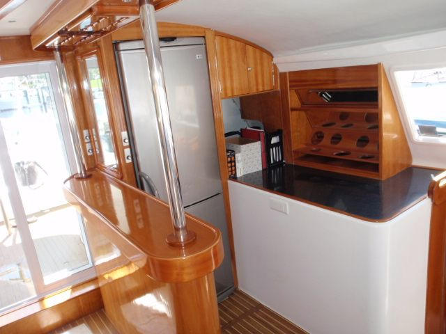Used Power Catamaran for Sale 2005 Prowler 450 Layout & Accommodations
