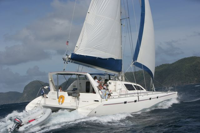 Preowned Sail Catamarans for Sale 2000 Leopard 4500 Boat Highlights