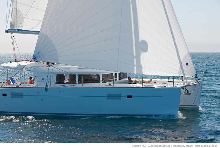 New Sail Catamarans for Sale 2012 Lagoon 450 Boat Highlights