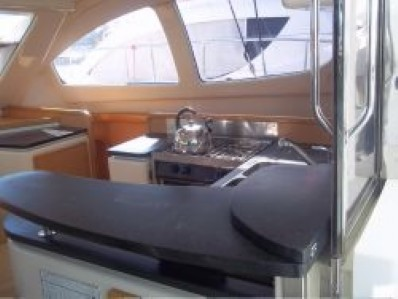 Preowned Sail Catamarans for Sale 2005 Leopard 40 Galley