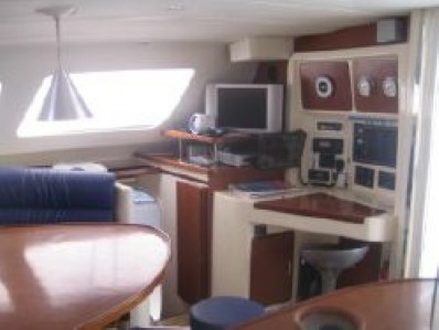 Preowned Sail Catamarans for Sale 2003 Leopard 47 Layout & Accommodations