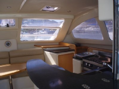 Preowned Sail Catamarans for Sale 2006 Leopard 40 Layout & Accommodations