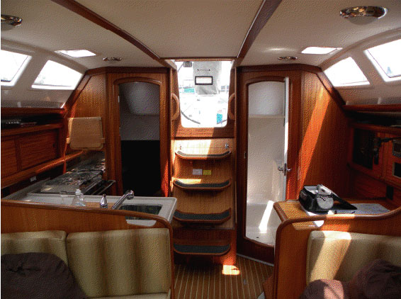 Preowned Sail Catamarans for Sale 2007 Delphia 37 Layout & Accommodations