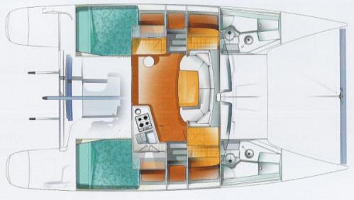 Used Sail Catamaran for Sale 2007 Mahe 36 Layout & Accommodations