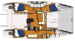 Used Power Catamaran for Sale 2008 Leopard 47 Layout & Accommodations