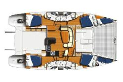 Preowned Sail Catamarans for Sale 2008 Leopard 46  Layout & Accommodations