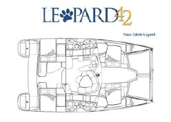 Preowned Sail Catamarans for Sale 2002 Leopard 42 Layout & Accommodations
