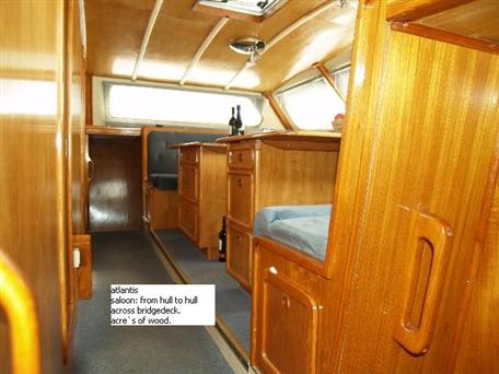Used Sail Catamaran for Sale 1989 Simpson 15M Layout & Accommodations