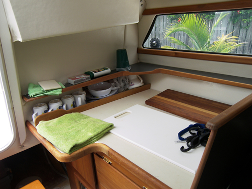 Preowned Sail Catamarans for Sale 2006 Telstar 28  Galley