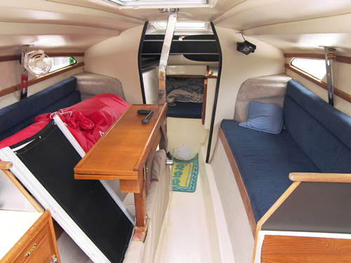 Used Sail Trimaran for Sale 2006 Telstar 28  Layout & Accommodations