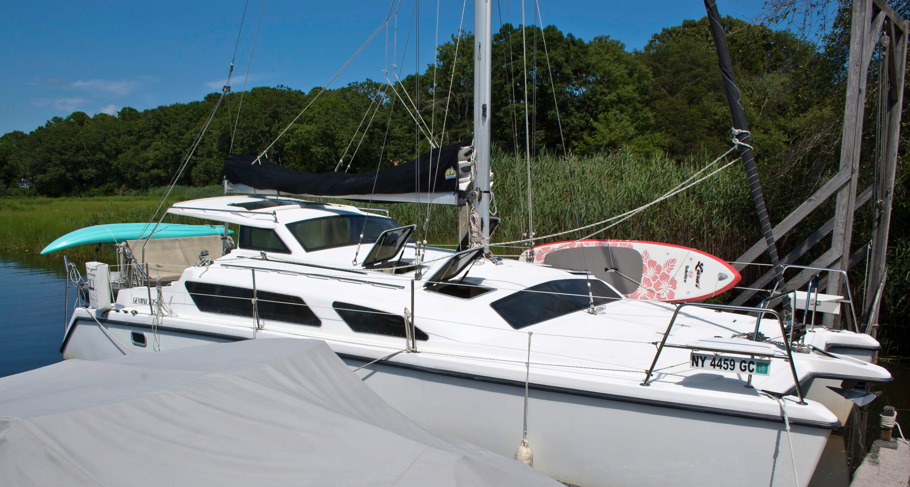 Used Sail Catamaran for Sale 2010 Gemini 105Mc Deck & Equipment