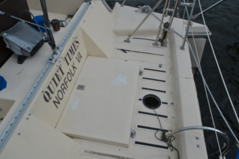 Preowned Sail Catamarans for Sale 1986 Quest 33CS Deck & Equipment