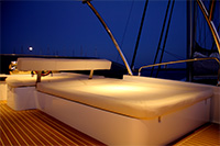 New Power Catamarans for Sale  Fisher 435 Layout & Accommodations