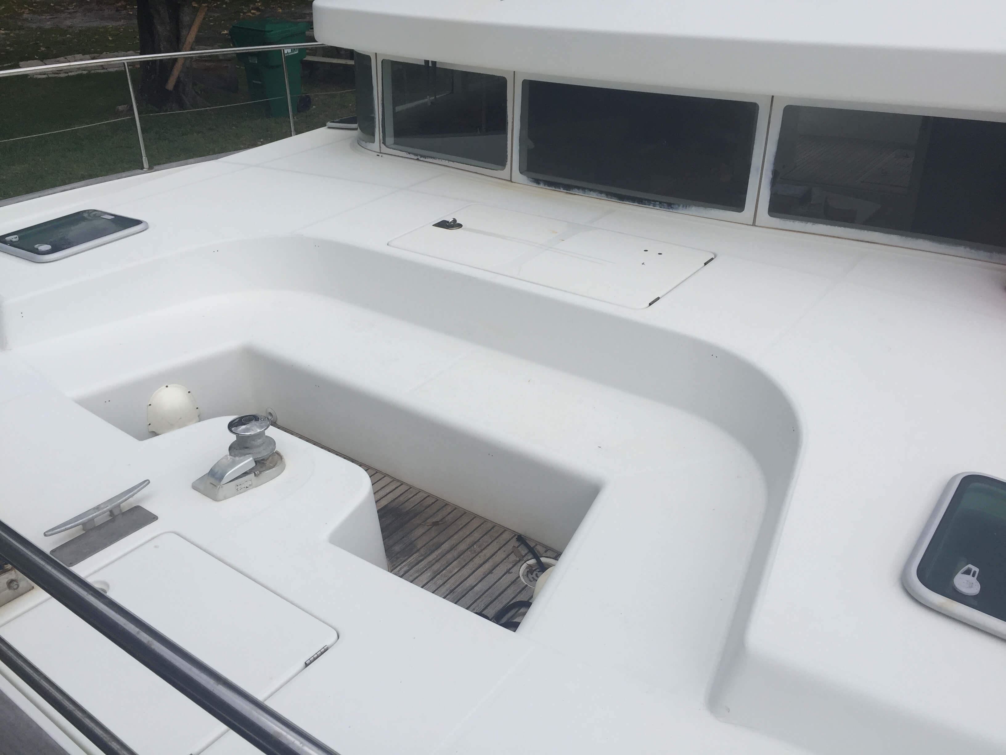 Used Power Catamaran for Sale 2004 Lagoon 43 Power  Deck & Equipment