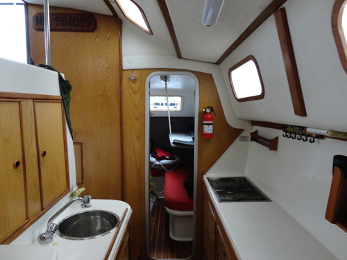 Preowned Sail Catamarans for Sale 1993 Capella Classic Layout & Accommodations