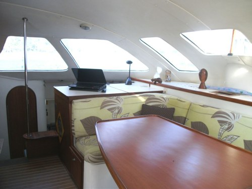 Preowned Sail Catamarans for Sale 1994 Lagoon 42 TPI Layout & Accommodations