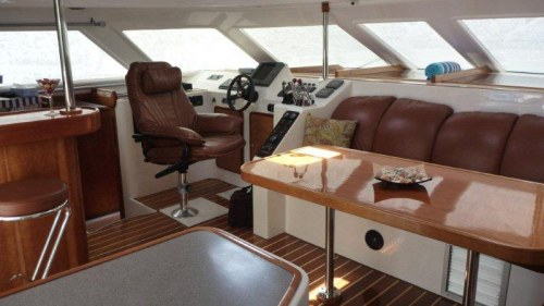 Preowned Power Catamarans for Sale 2003 Prowler 45 Layout & Accommodations