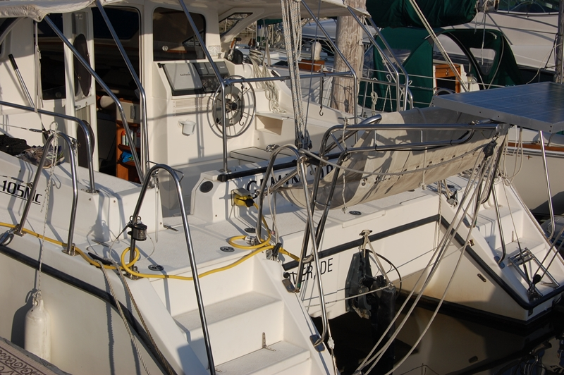 Preowned Sail Catamarans for Sale 2009 Gemini 105Mc Deck & Equipment