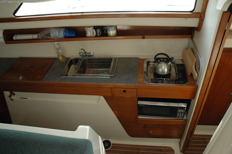 Preowned Sail Catamarans for Sale 2004 Gemini 105Mc Galley