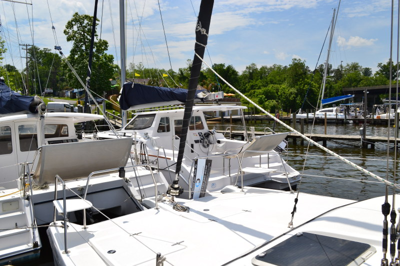 Preowned Sail Catamarans for Sale 2014 Legacy 35 Deck & Equipment