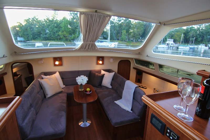 Used Sail Catamaran for Sale 2014 Legacy 35 Layout & Accommodations