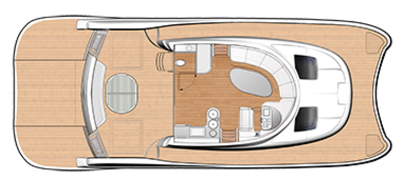 New Power Catamarans for Sale  FlashCat 47 Layout & Accommodations