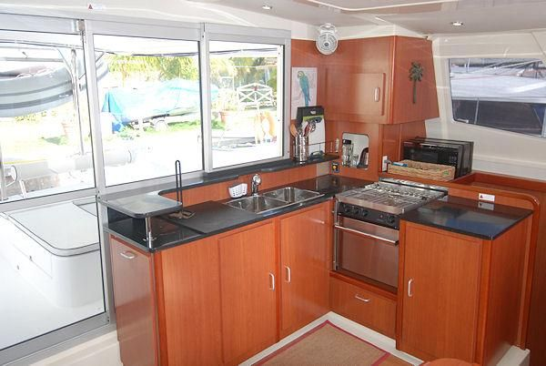 Used Sail Catamaran for Sale 2013 Leopard 44 Galley