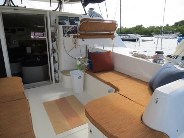 Preowned Sail Catamarans for Sale 2004 Leopard 4700 Deck & Equipment