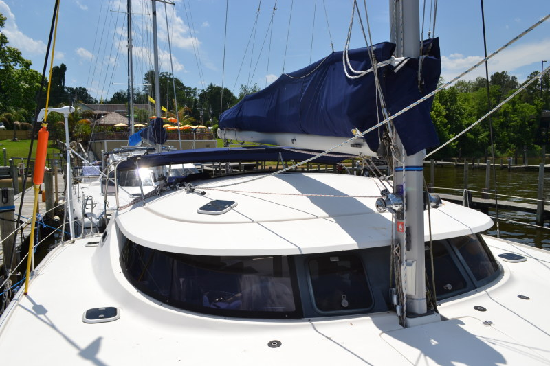 Preowned Sail Catamarans for Sale 1995 Athena 38 Deck & Equipment